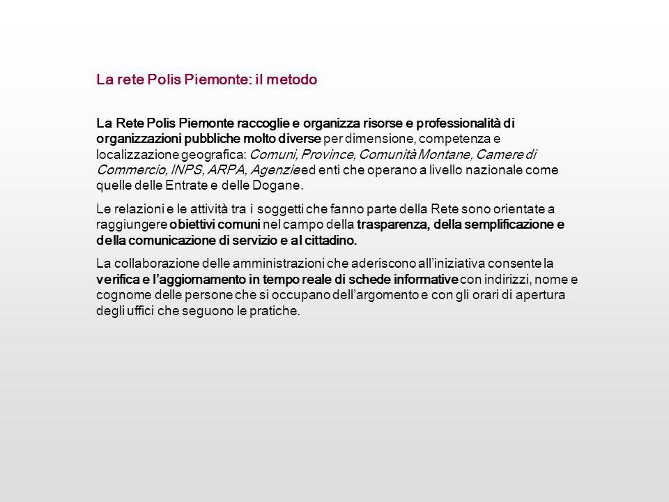 La rete Polis Piemonte: il metodo