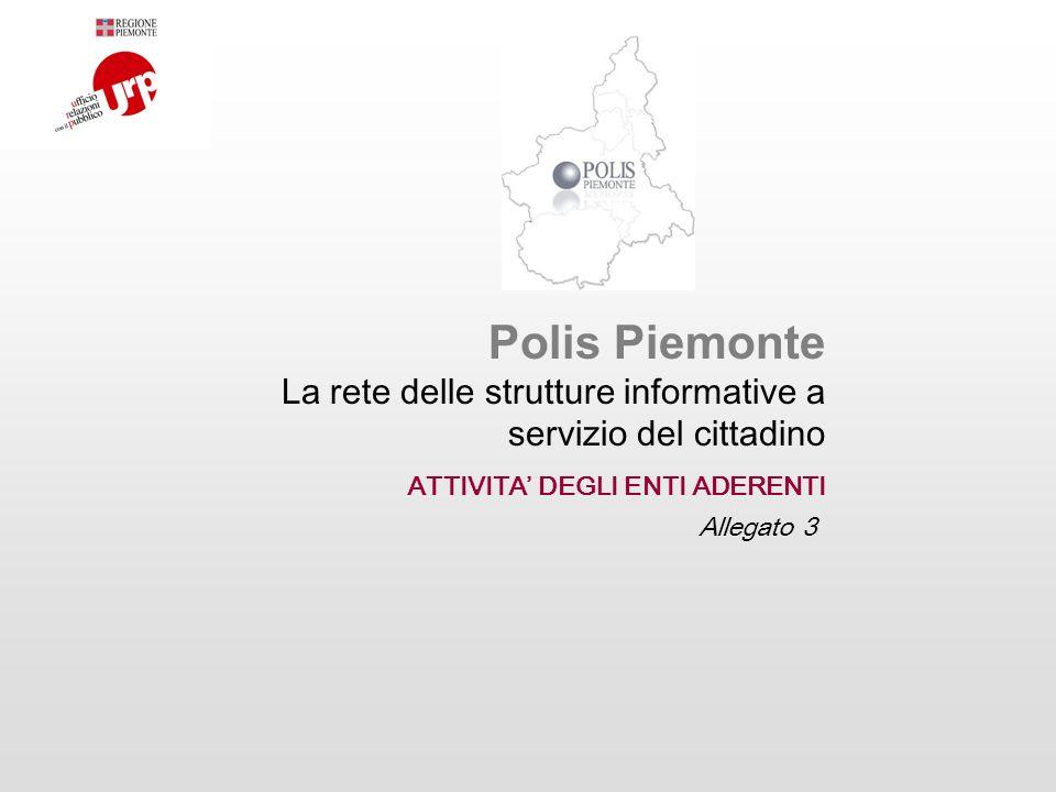 Polis Piemonte La rete delle strutture informative a servizio del cittadino