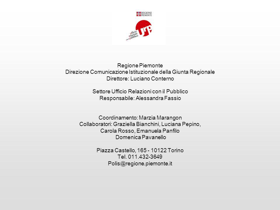 Direzione Comunicazione Istituzionale della Giunta Regionale