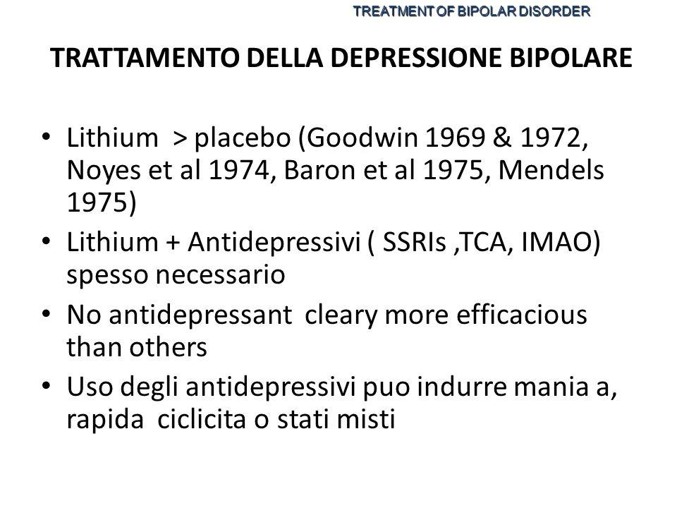 TRATTAMENTO DELLA DEPRESSIONE BIPOLARE