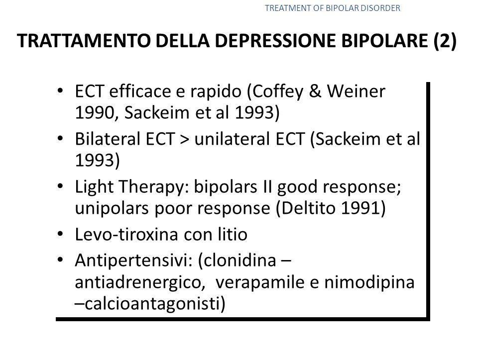 TRATTAMENTO DELLA DEPRESSIONE BIPOLARE (2)