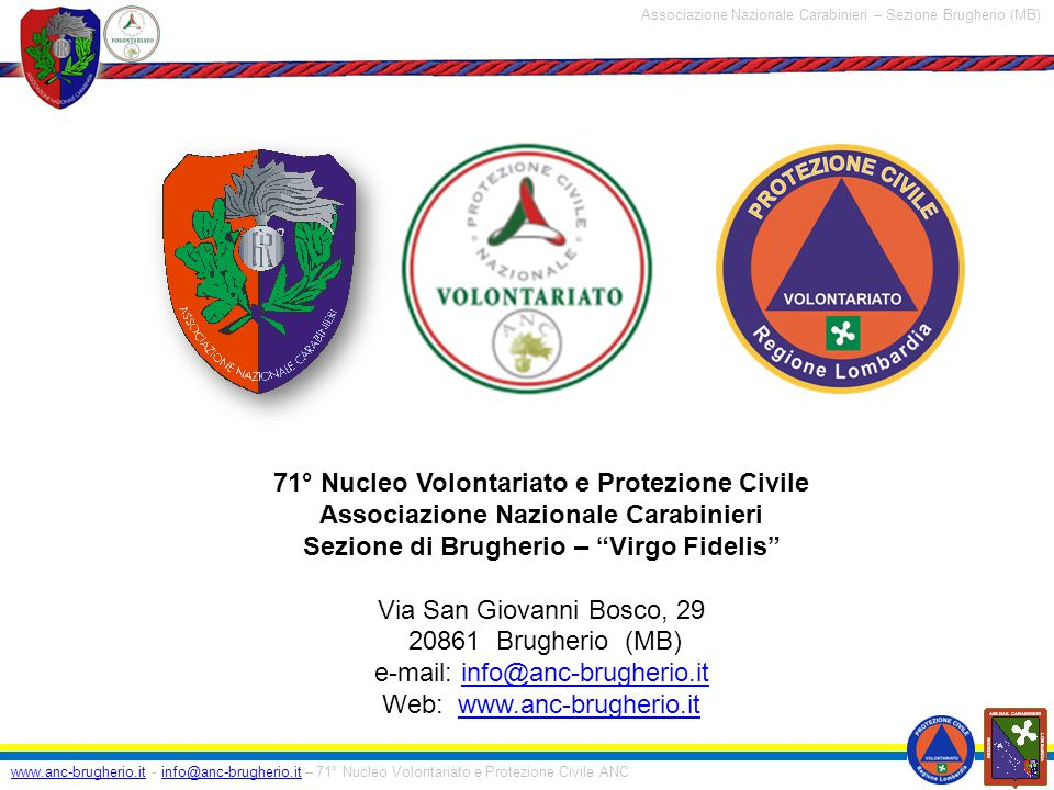 71° Nucleo Volontariato e Protezione Civile