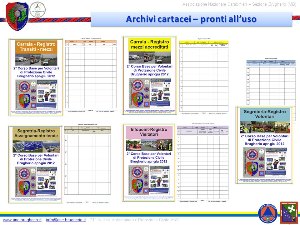 Archivi cartacei – pronti all'uso