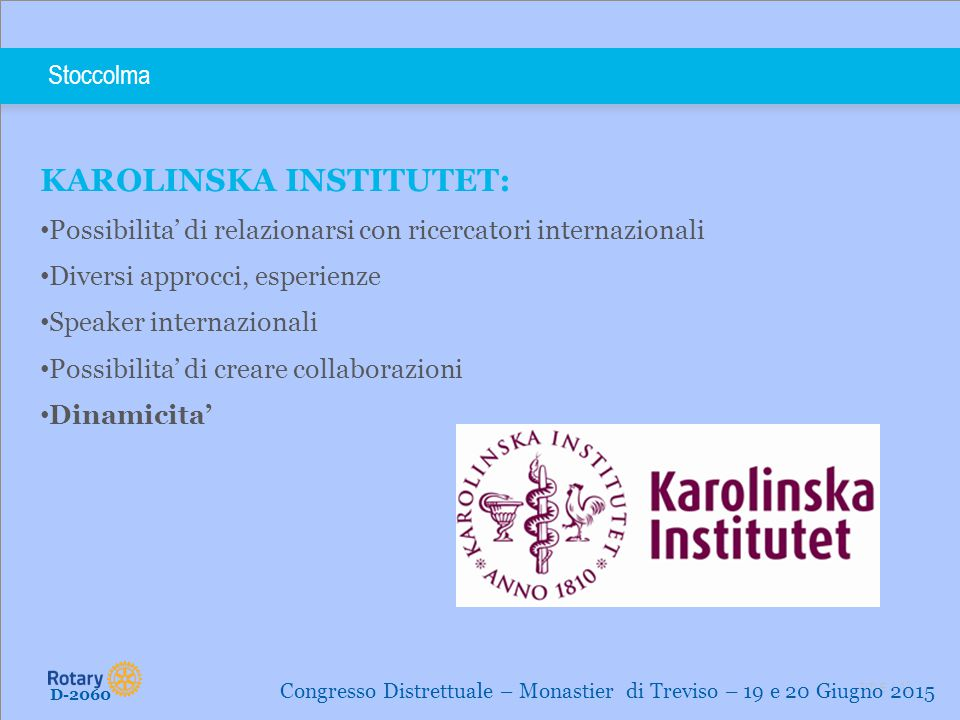 KAROLINSKA INSTITUTET: