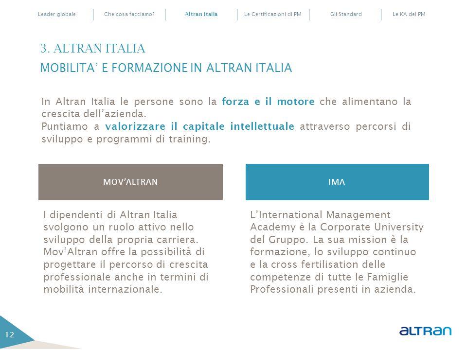 3. ALTRAN ITALIA MOBILITA' E FORMAZIONE IN ALTRAN ITALIA