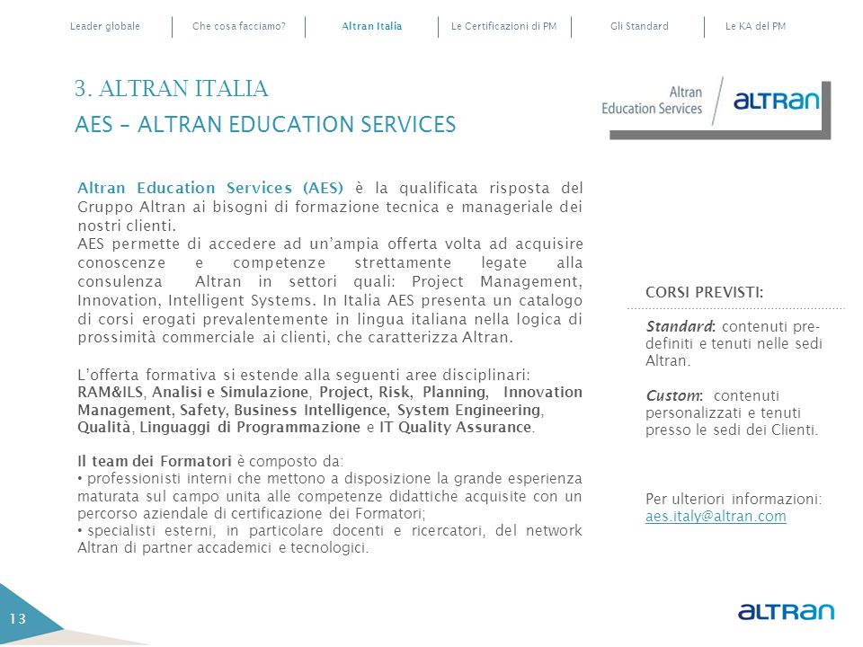 3. ALTRAN ITALIA AES – ALTRAN EDUCATION SERVICES