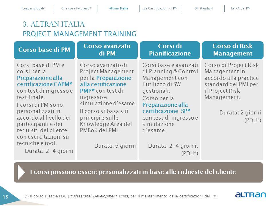 Corsi di Pianificazione Corso di Risk Management
