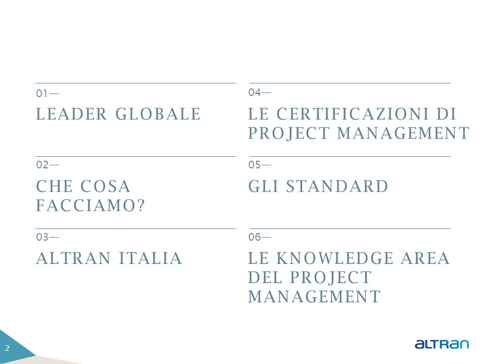 LE CERTIFICAZIONI DI PROJECT MANAGEMENT
