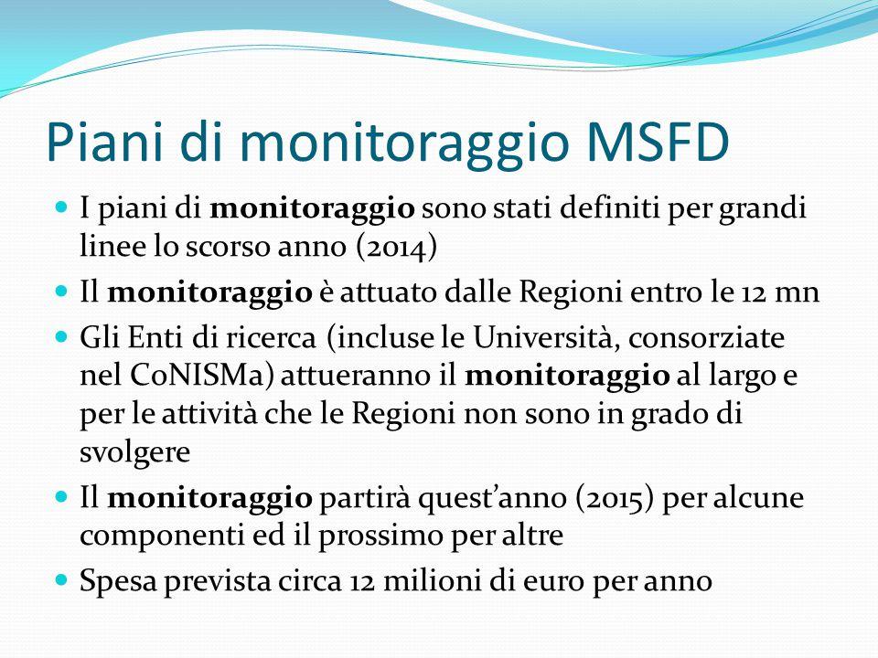 Piani di monitoraggio MSFD