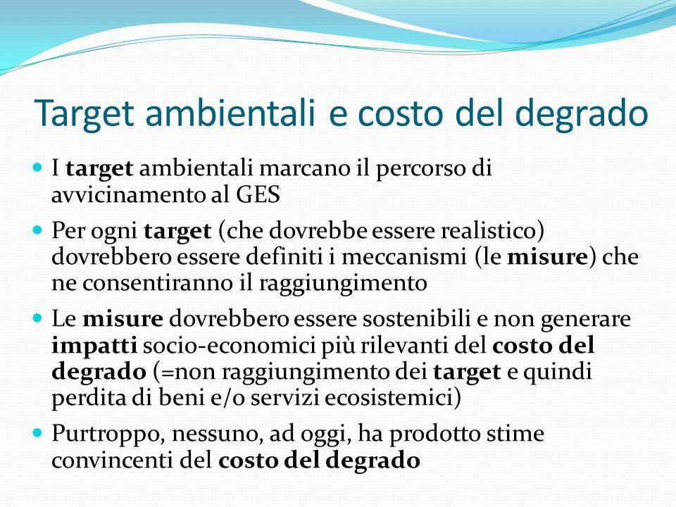 Target ambientali e costo del degrado