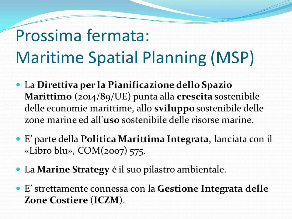 Prossima fermata: Maritime Spatial Planning (MSP)