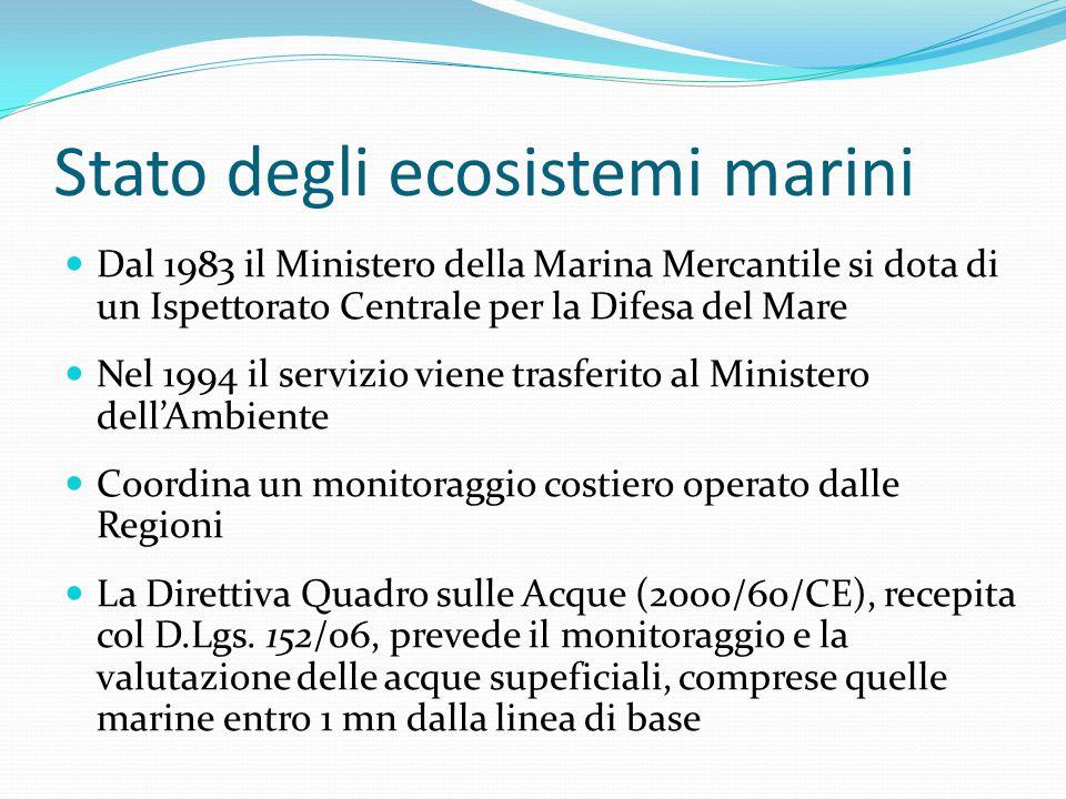 Stato degli ecosistemi marini
