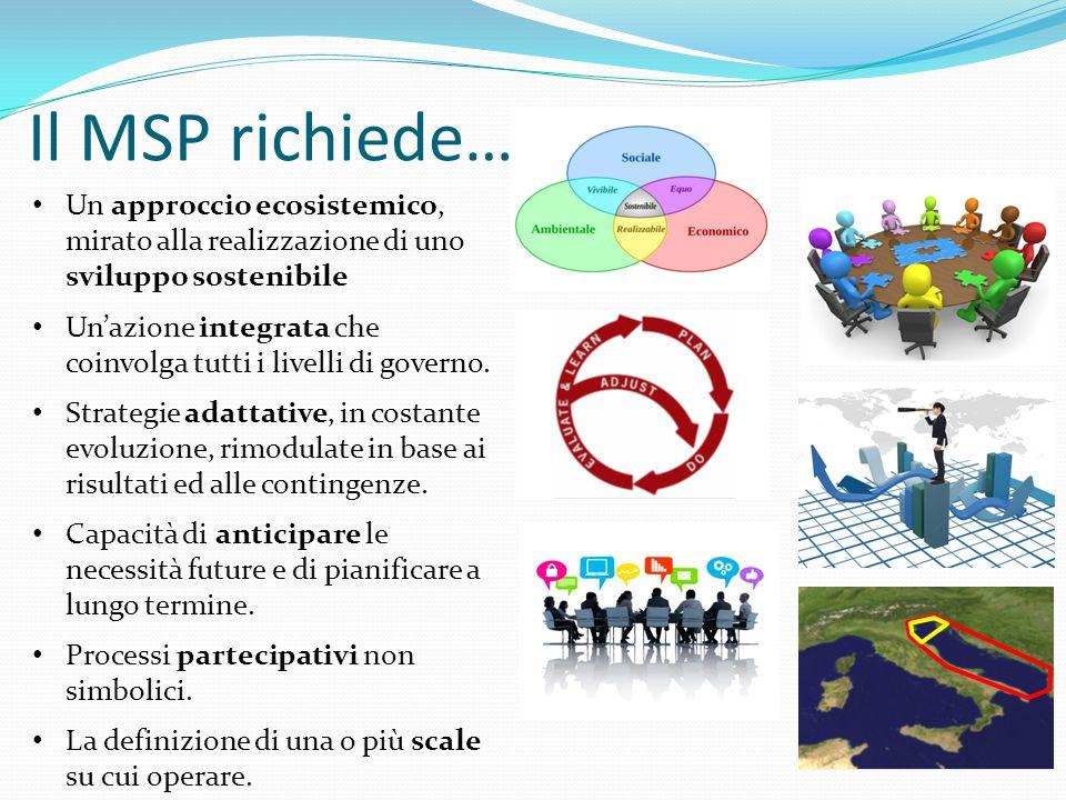 Il MSP richiede… Un approccio ecosistemico, mirato alla realizzazione di uno sviluppo sostenibile.