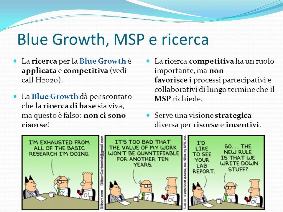 Blue Growth, MSP e ricerca
