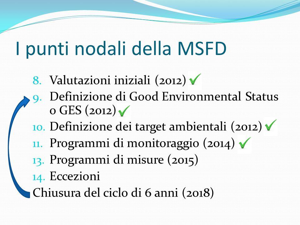 I punti nodali della MSFD