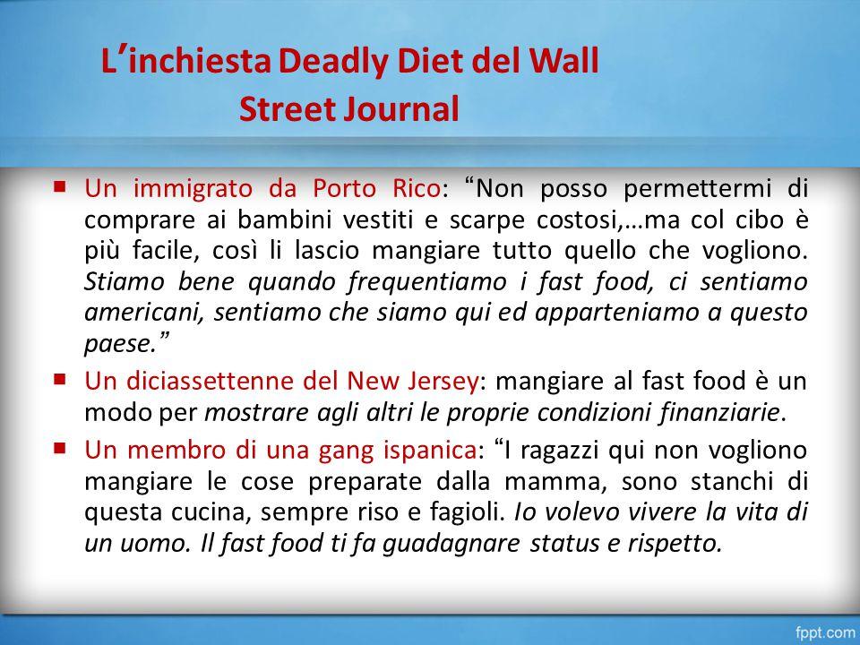 L'inchiesta Deadly Diet del Wall Street Journal