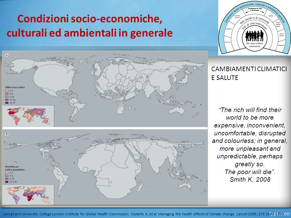 Condizioni socio-economiche, culturali ed ambientali in generale