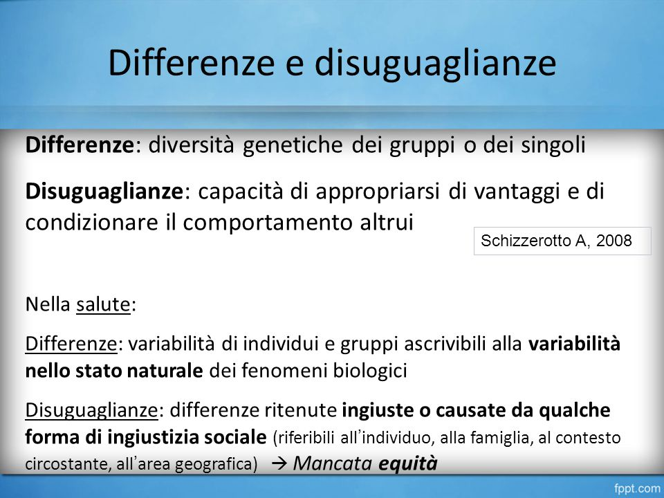 Differenze e disuguaglianze