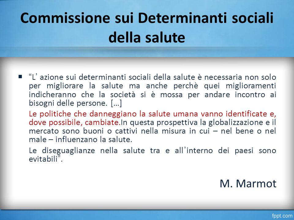 Commissione sui Determinanti sociali della salute