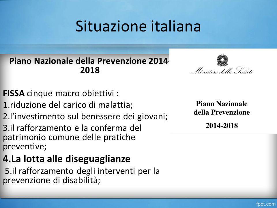 Piano Nazionale della Prevenzione 2014-2018