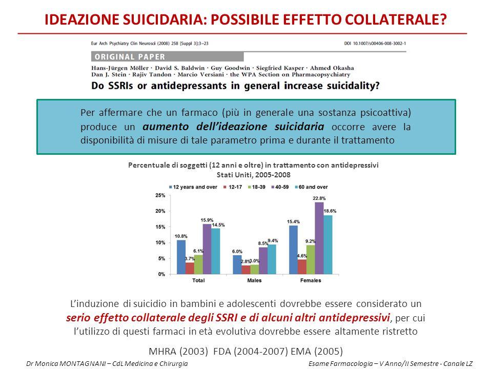 IDEAZIONE SUICIDARIA: POSSIBILE EFFETTO collateralE