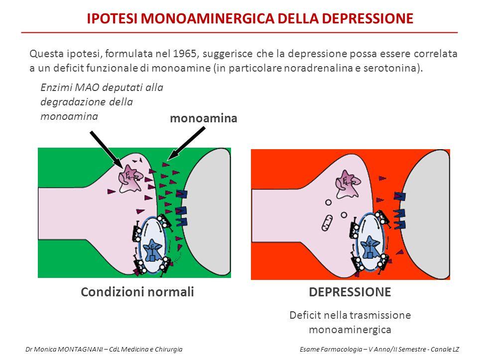 IPOTESI MONOAMINERGICA DELLA DEPRESSIONE