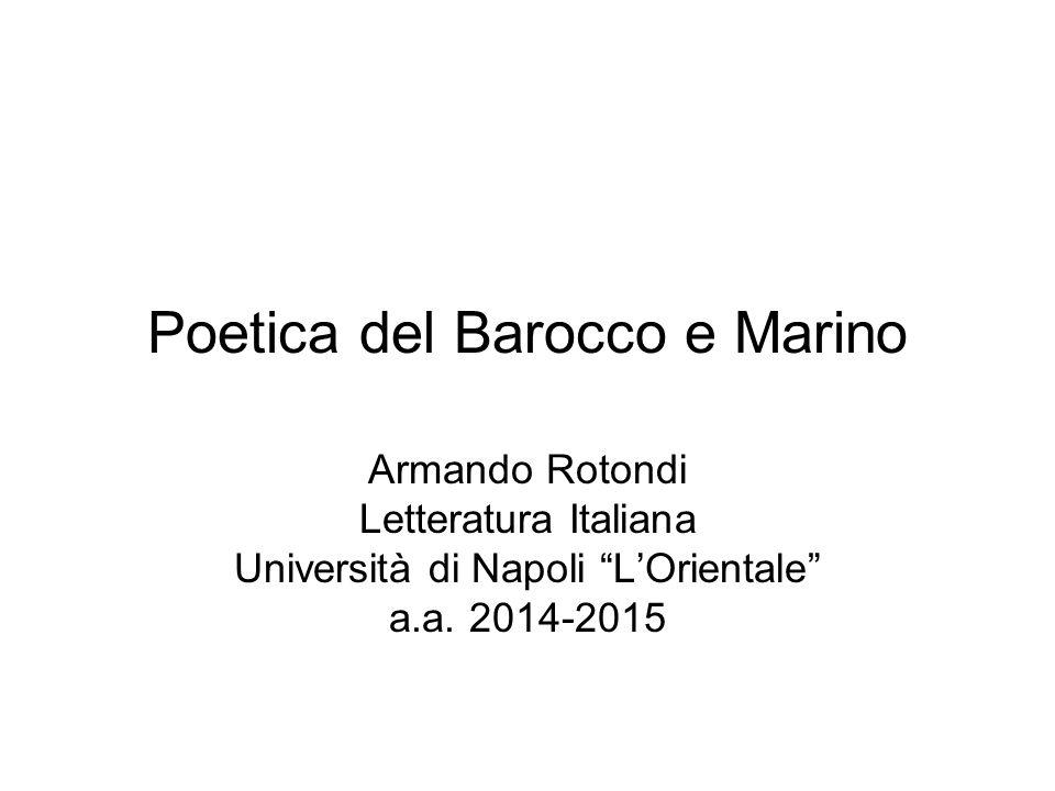 Poetica del Barocco e Marino
