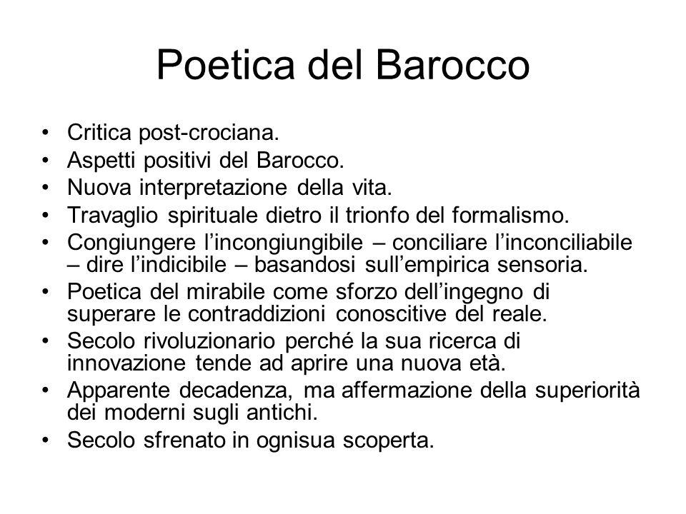 Poetica del Barocco Critica post-crociana.