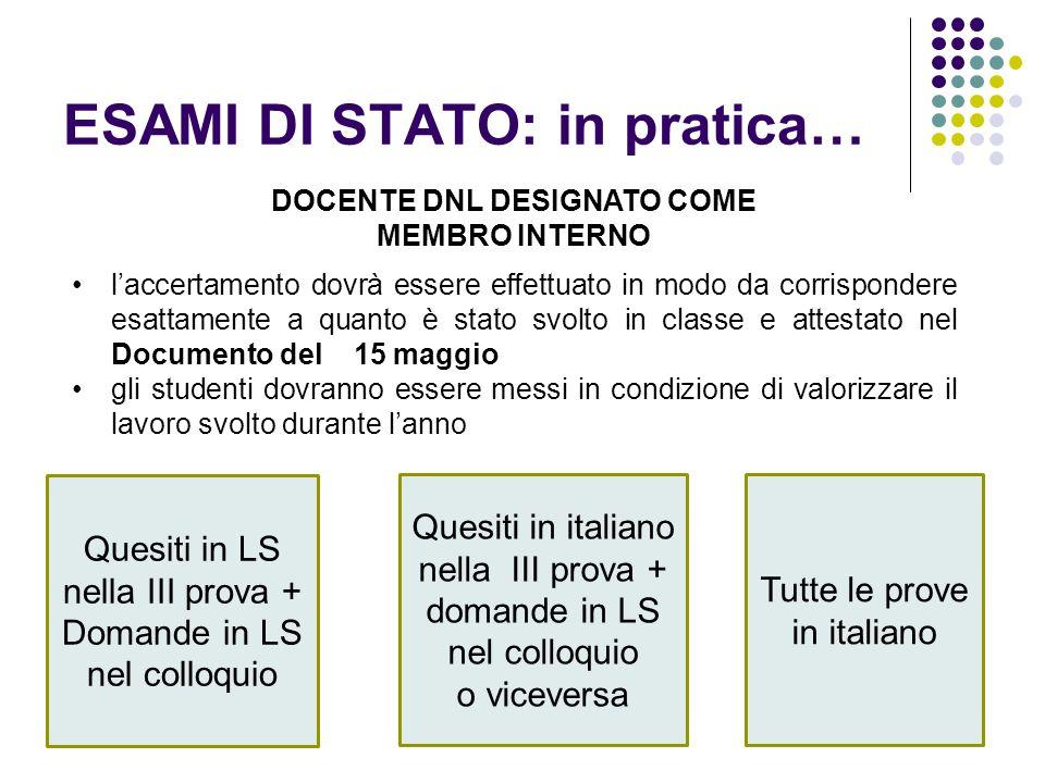 Clil le norme transitorie e l esame di stato maria for Commissario esterno esami di stato rinuncia