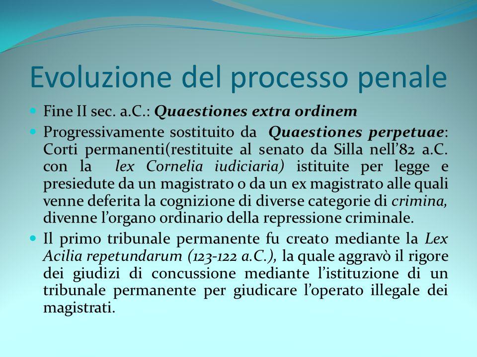 Evoluzione del processo penale