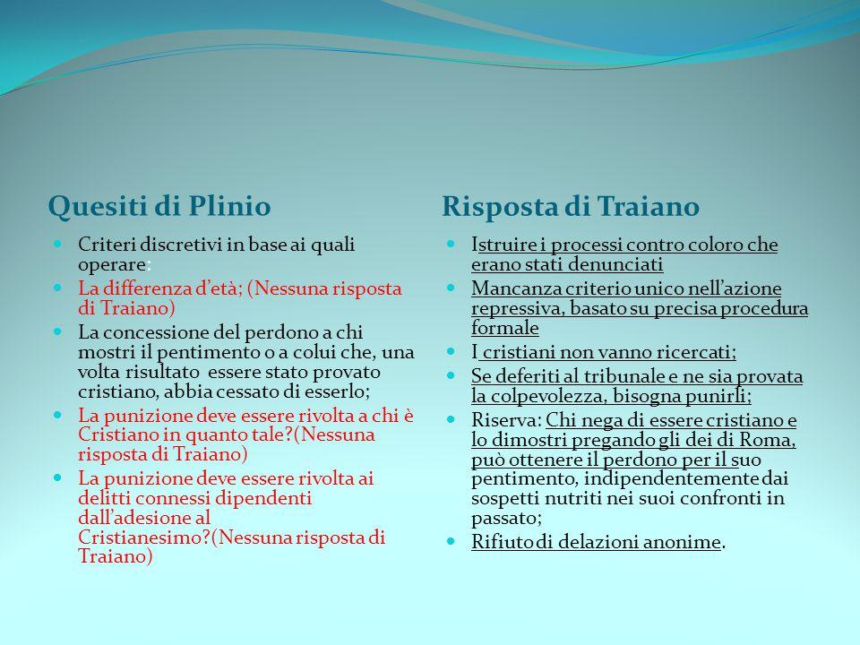 Quesiti di Plinio Risposta di Traiano