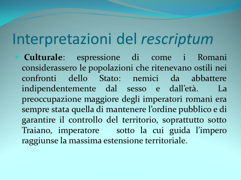 Interpretazioni del rescriptum
