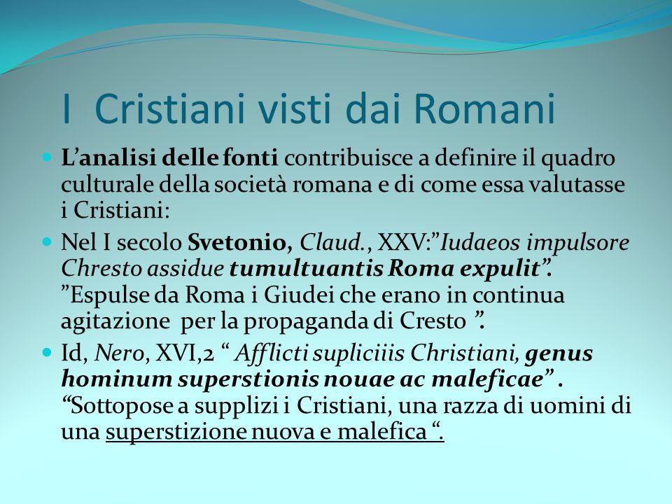 I Cristiani visti dai Romani