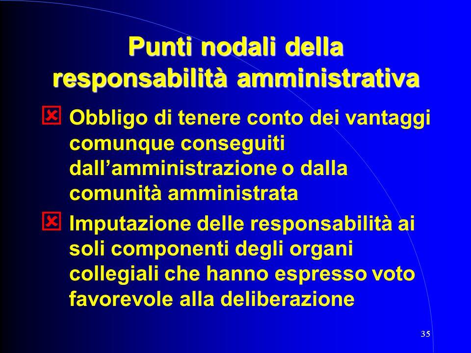 Punti nodali della responsabilità amministrativa