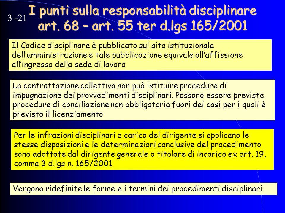 I punti sulla responsabilità disciplinare art. 68 – art. 55 ter d