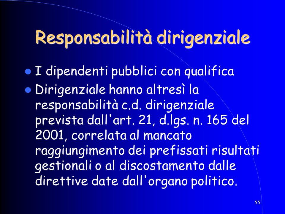 Responsabilità dirigenziale