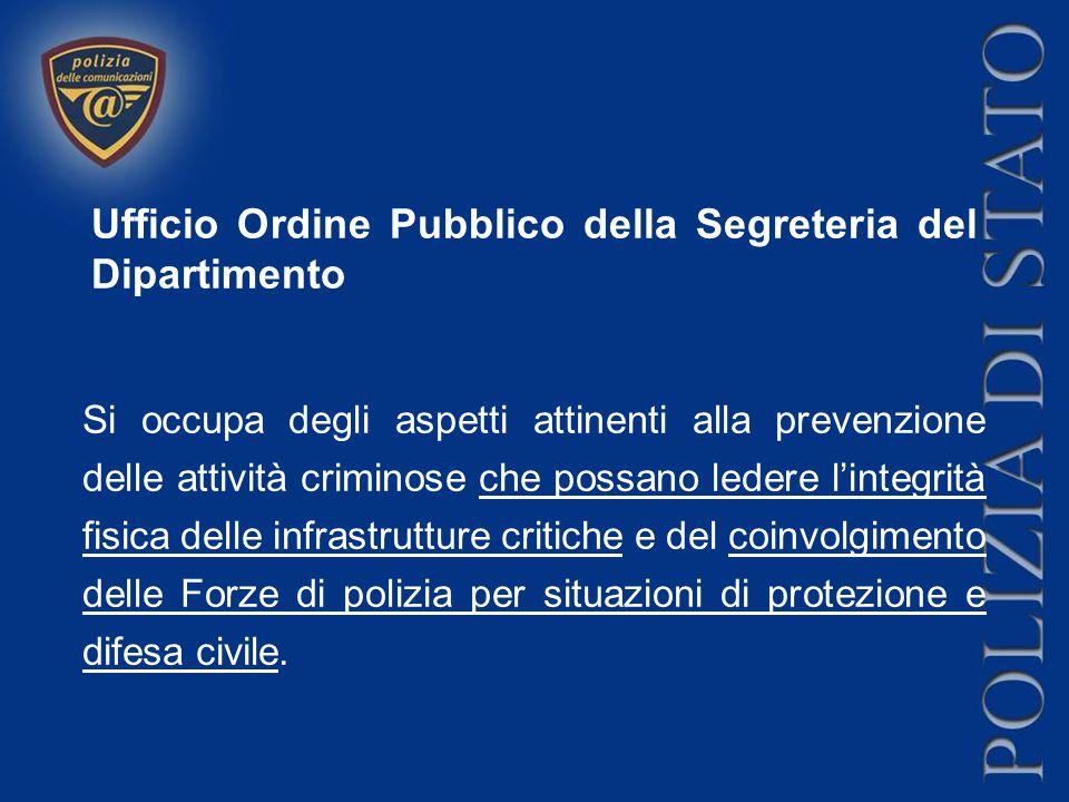 Ufficio Ordine Pubblico della Segreteria del Dipartimento