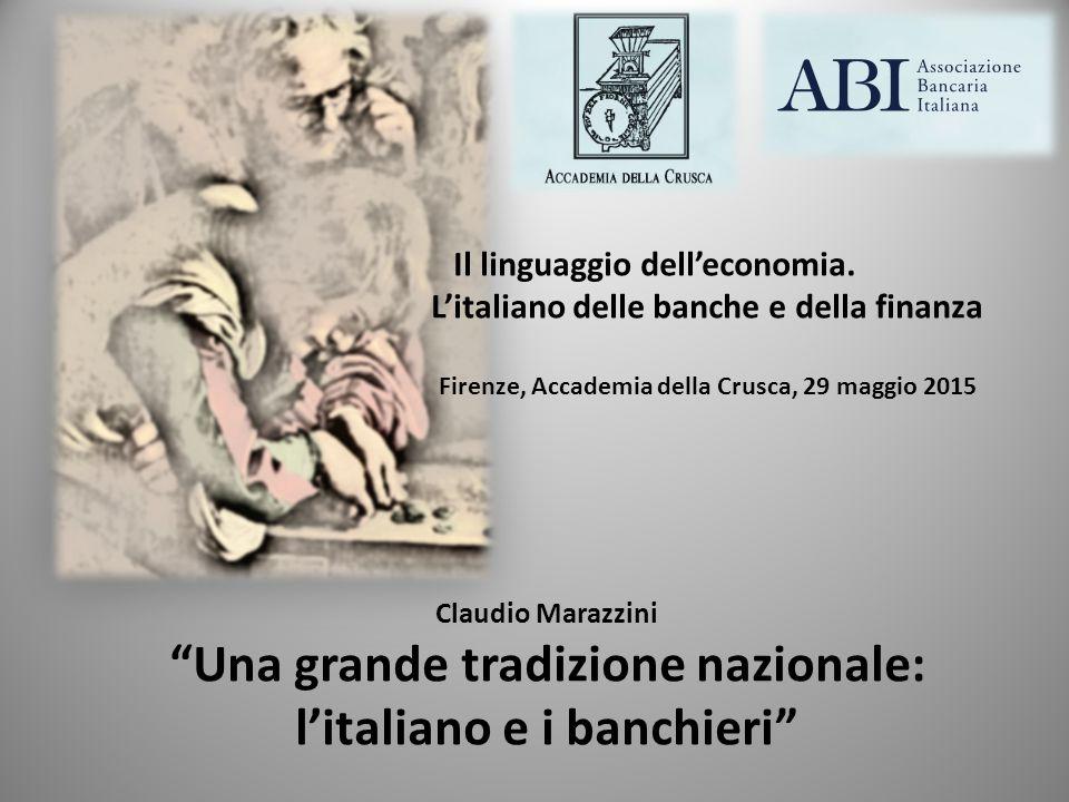 Il linguaggio dell'economia. L'italiano delle banche e della finanza