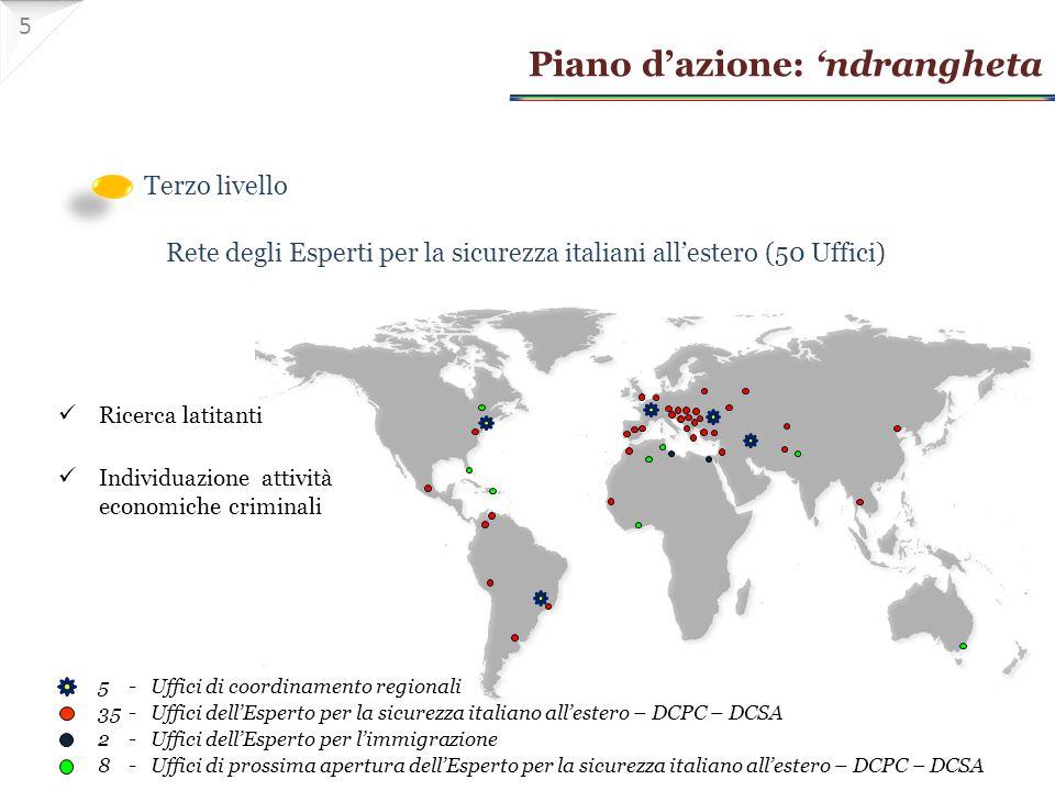 Rete degli Esperti per la sicurezza italiani all'estero (50 Uffici)