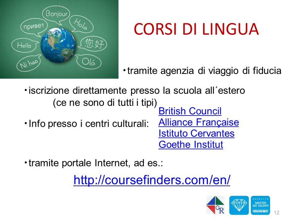 CORSI DI LINGUA http://coursefinders.com/en/