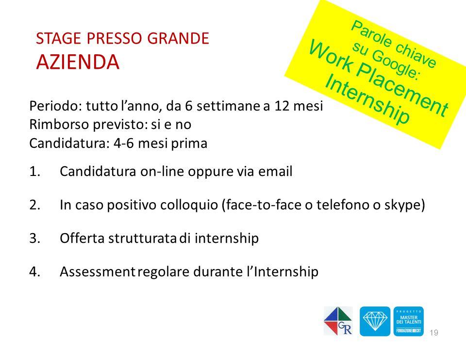 STAGE PRESSO GRANDE AZIENDA