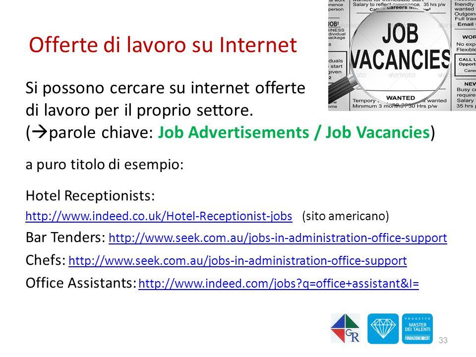 Offerte di lavoro su Internet