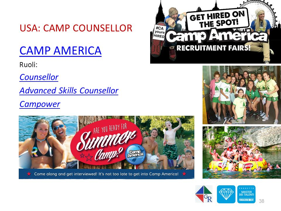 CAMP AMERICA USA: CAMP COUNSELLOR Counsellor