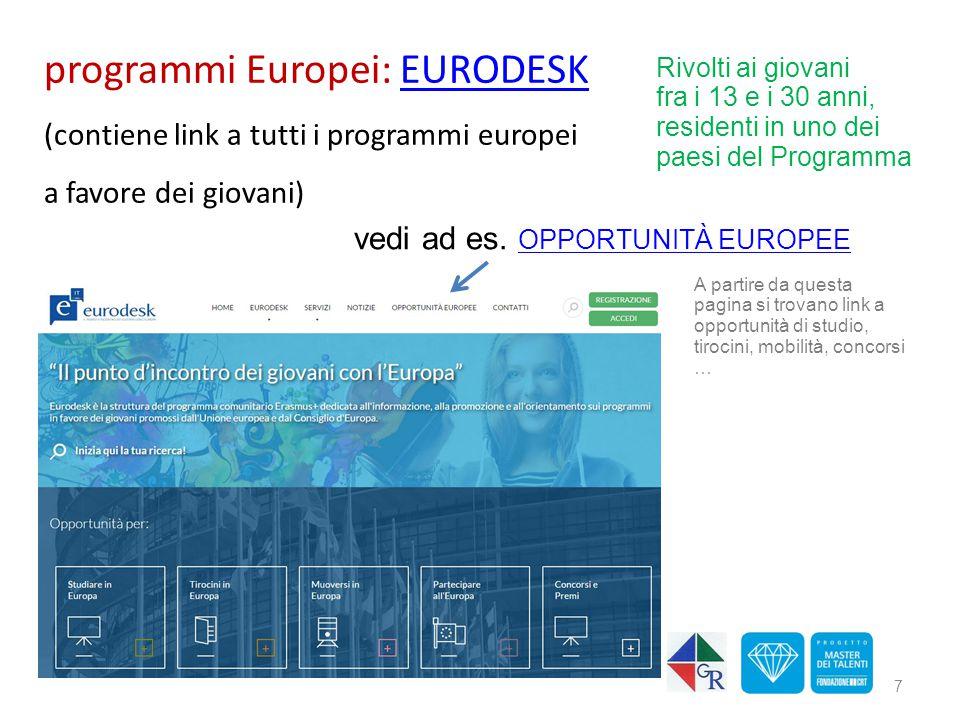 programmi Europei: EURODESK