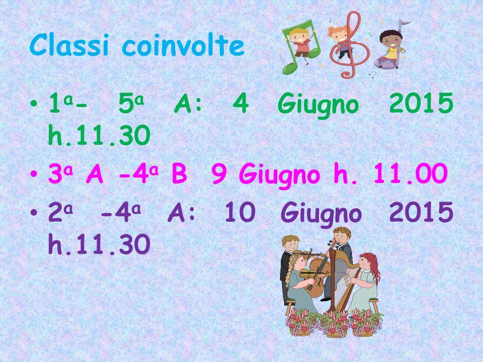 Classi coinvolte 1a- 5a A: 4 Giugno 2015 h.11.30