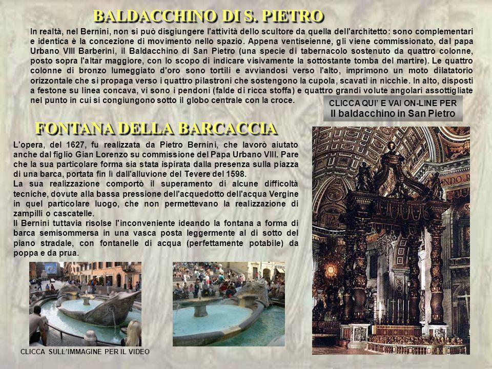 CLICCA QUI' E VAI ON-LINE PER Il baldacchino in San Pietro