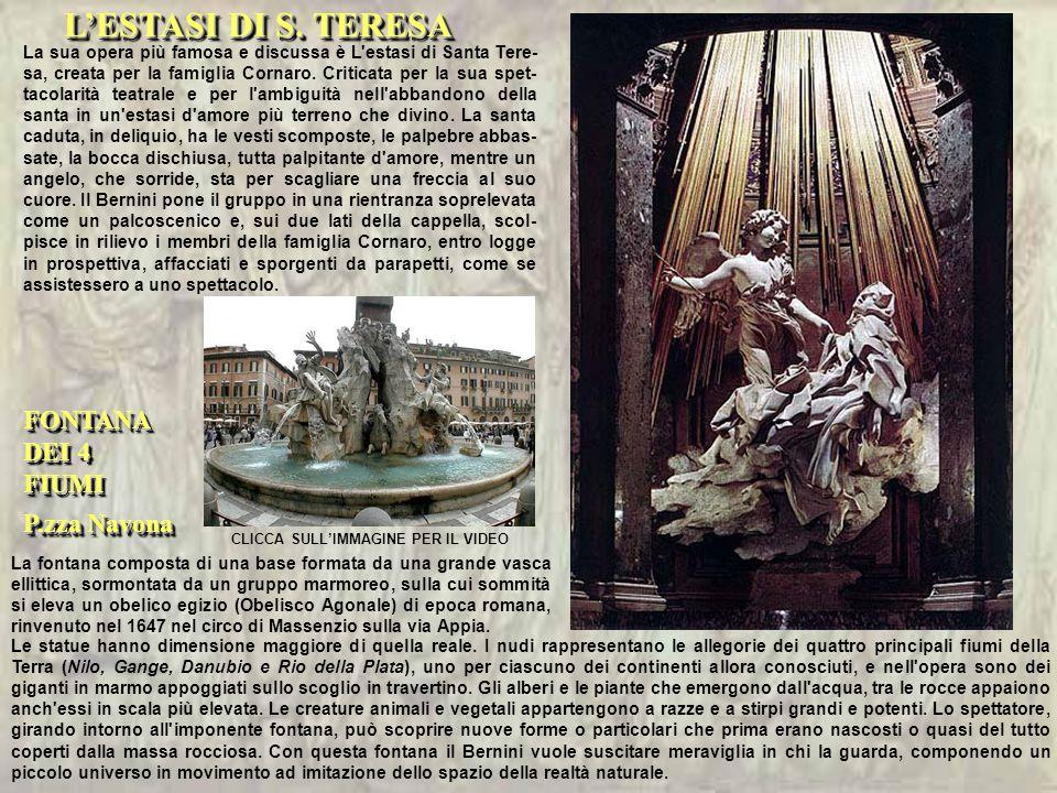 L'ESTASI DI S. TERESA FONTANA DEI 4 FIUMI P.zza Navona