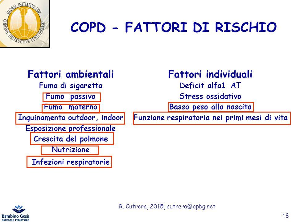 COPD - FATTORI DI RISCHIO