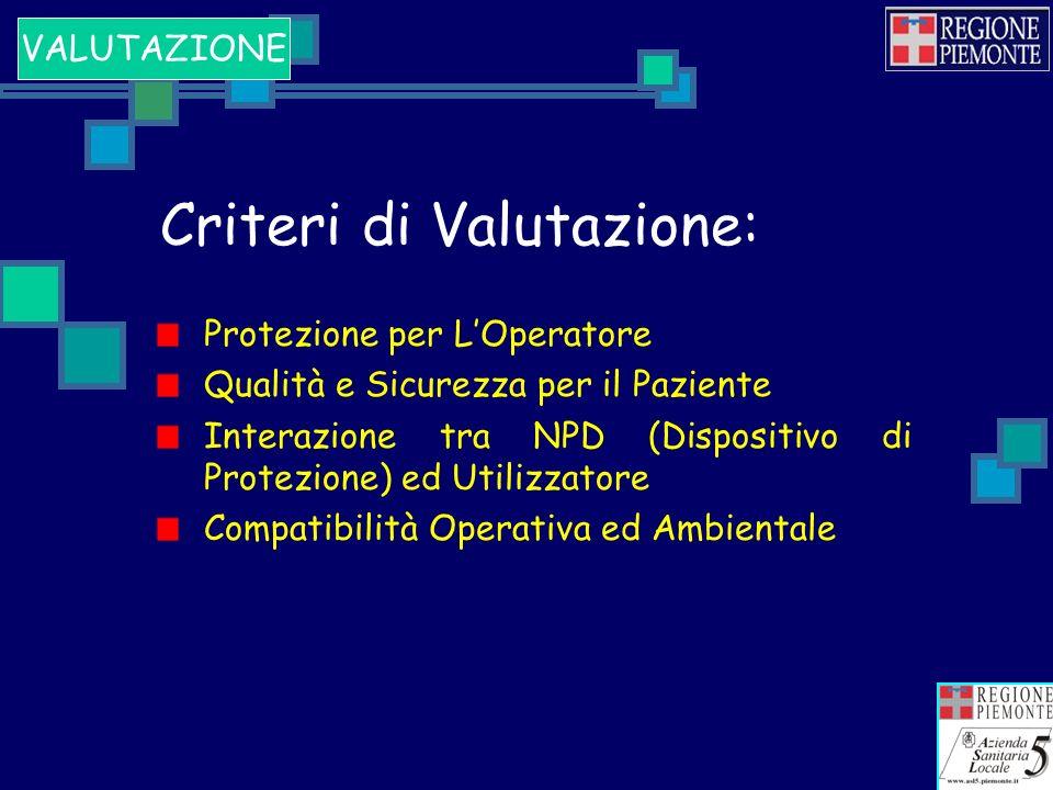 Criteri di Valutazione: