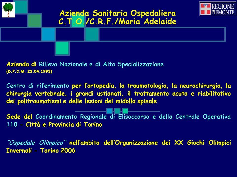 Azienda Sanitaria Ospedaliera C.T.O./C.R.F./Maria Adelaide